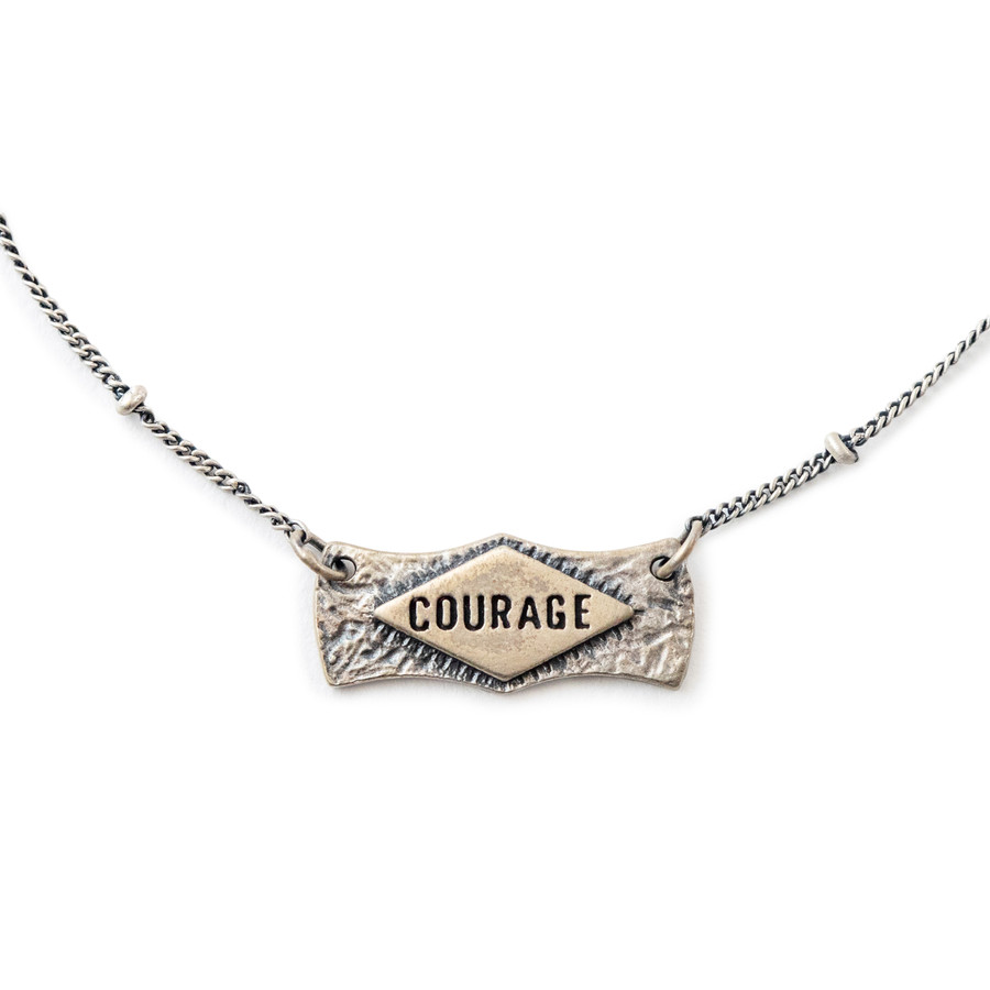 Courage Pendant Necklace on Ball Chain