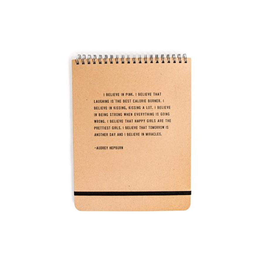 i believe in pink - spiral notebook