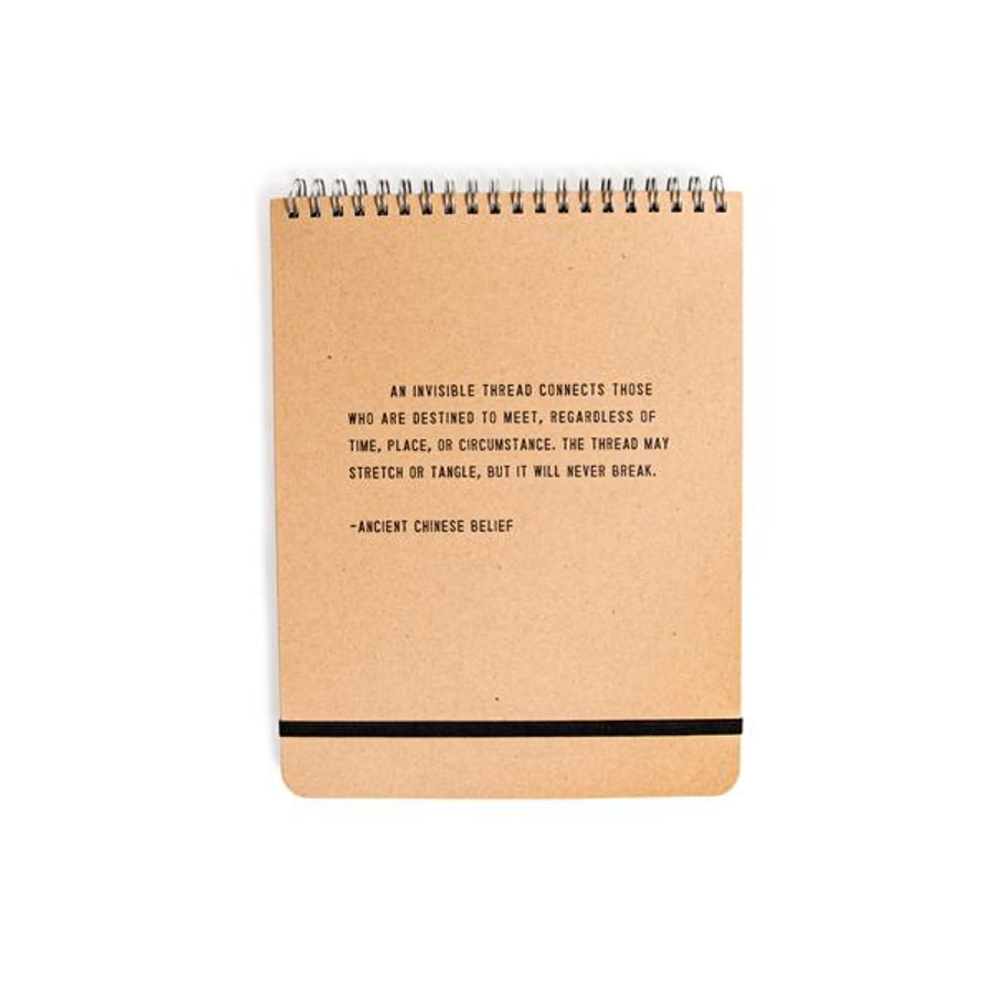 an invisible thread - spiral notebook