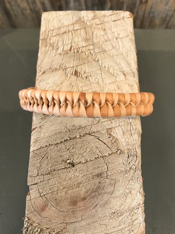 Woven Tan Leather Bracelet