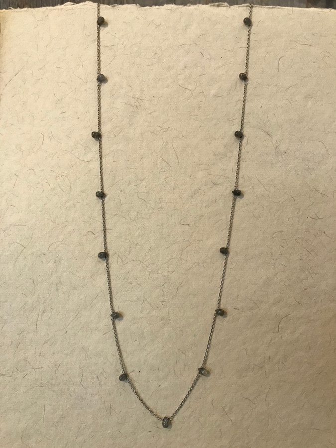Labradorite layering necklace.