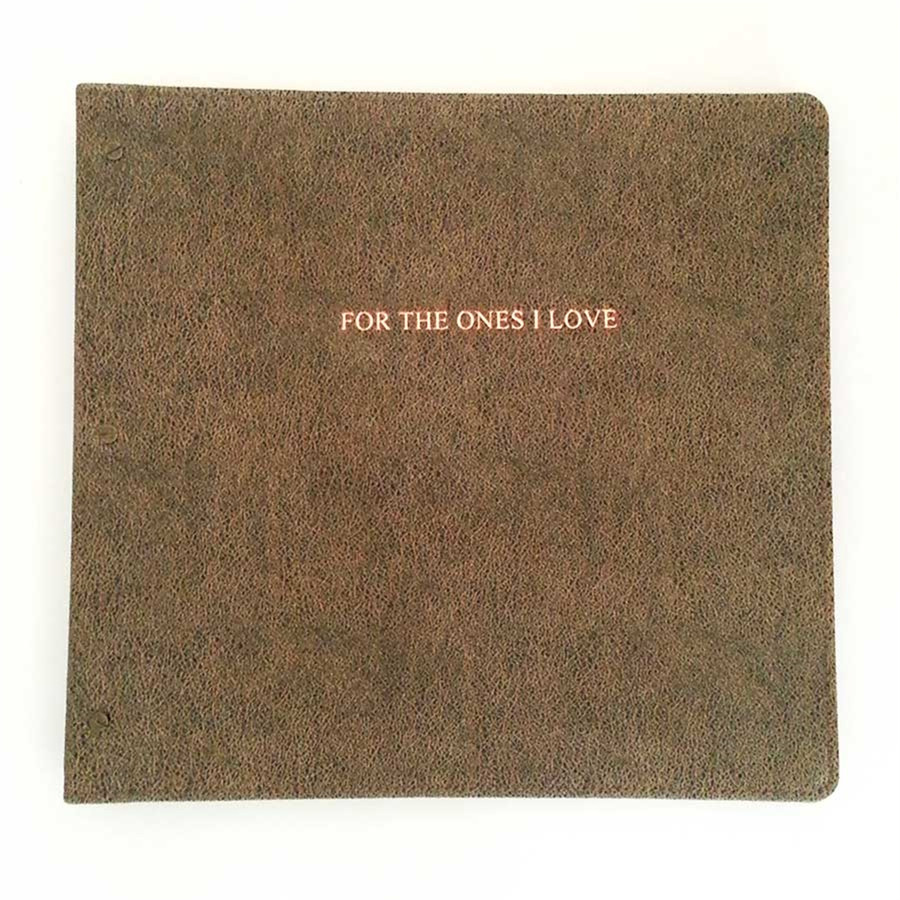 "Heirloom Leather Photo Album ""For the Ones I Love"""
