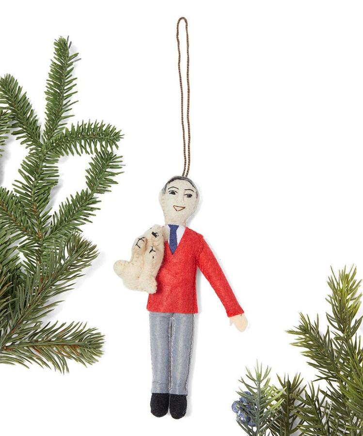 Mister rogers felt ornament