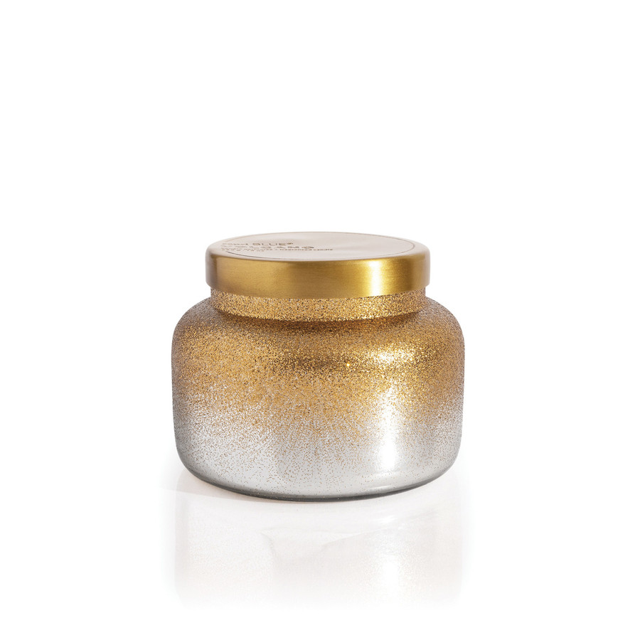 Crystal Pine glittered ombre signature jar candle