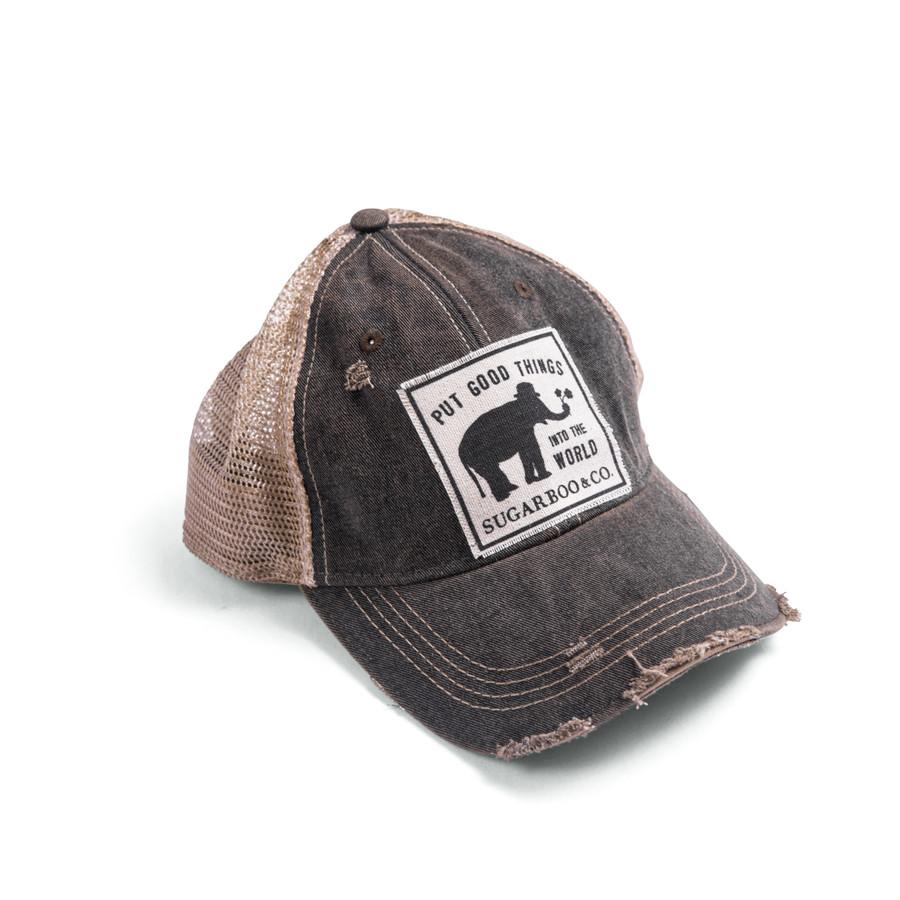 "Custom Sugarboo Patch Hat - Black - ""Put Good Things"""