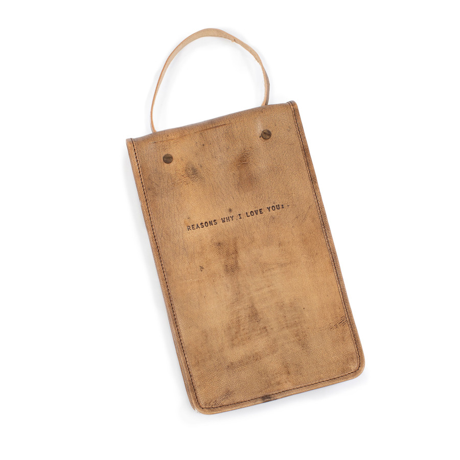 Heirloom Hanging Leather Journal - Reasons Why I Love You