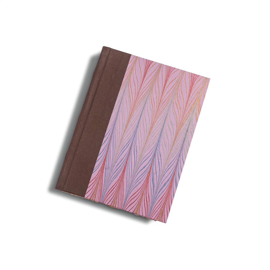 Multicolored Feather Print Marble Journal