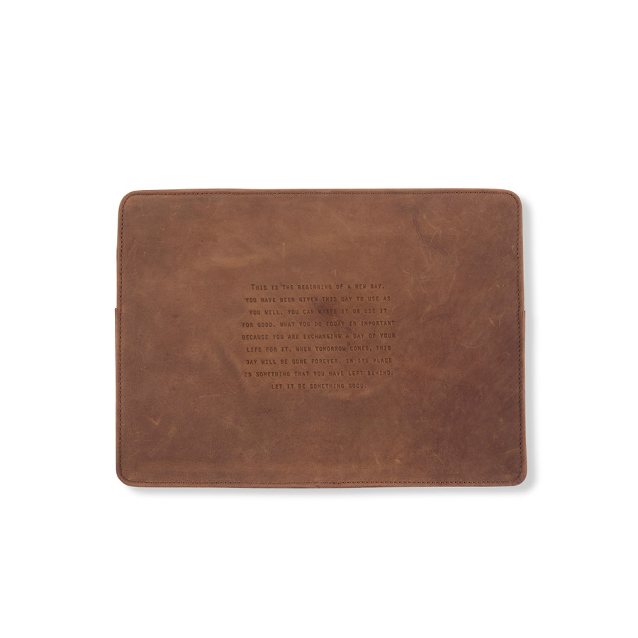 Leather Laptop Case - This Is The Beginning
