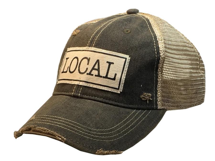 """LOCAL"" Distressed Trucker Hat"