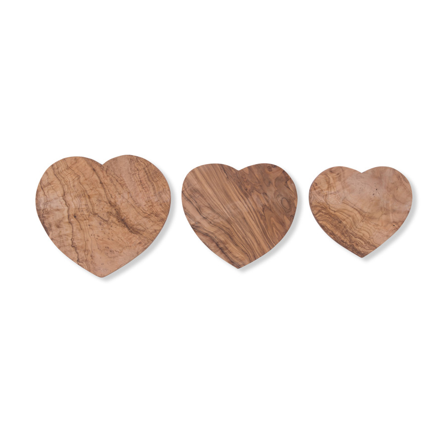 Heart Shaped Olive Wood Board