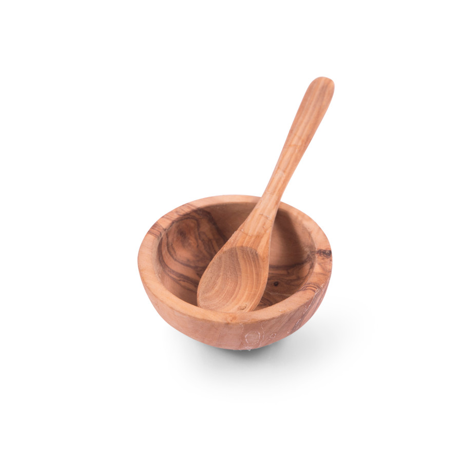 Olive Wood Bowl with Spoon