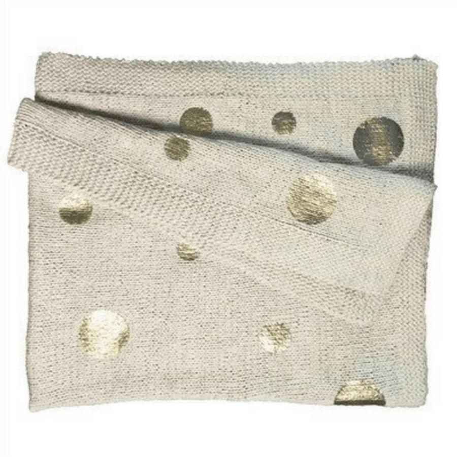 Cotton Throw - Gold Dot