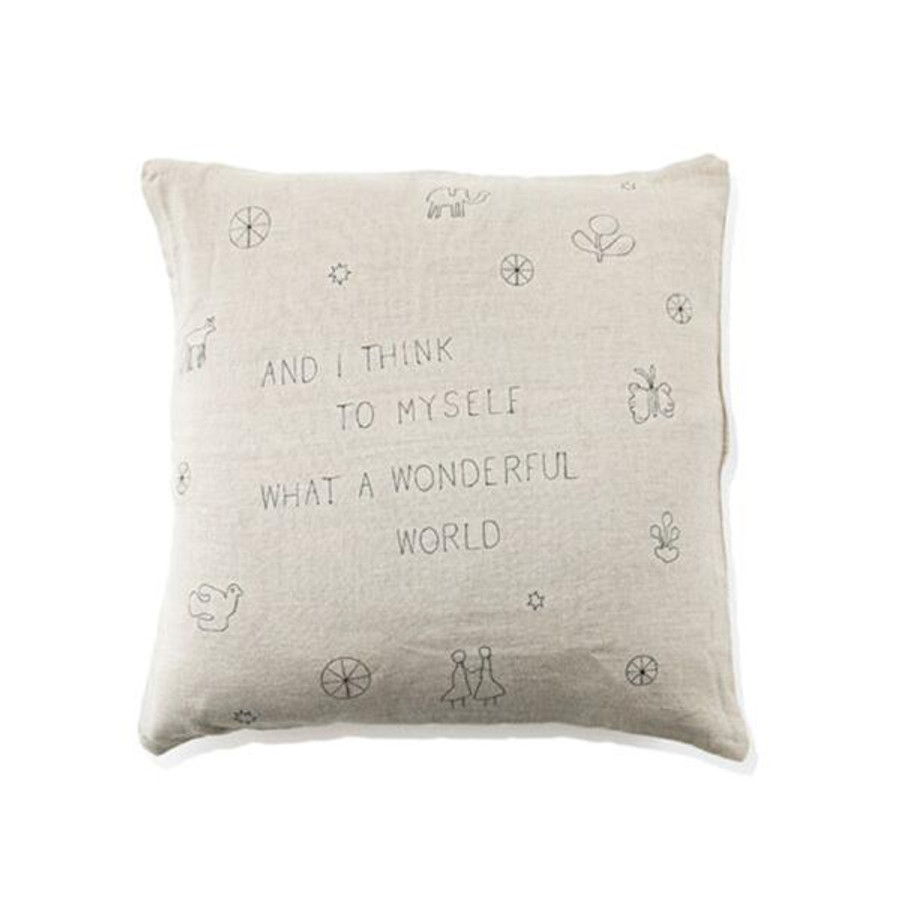 what a wonderful world pillow