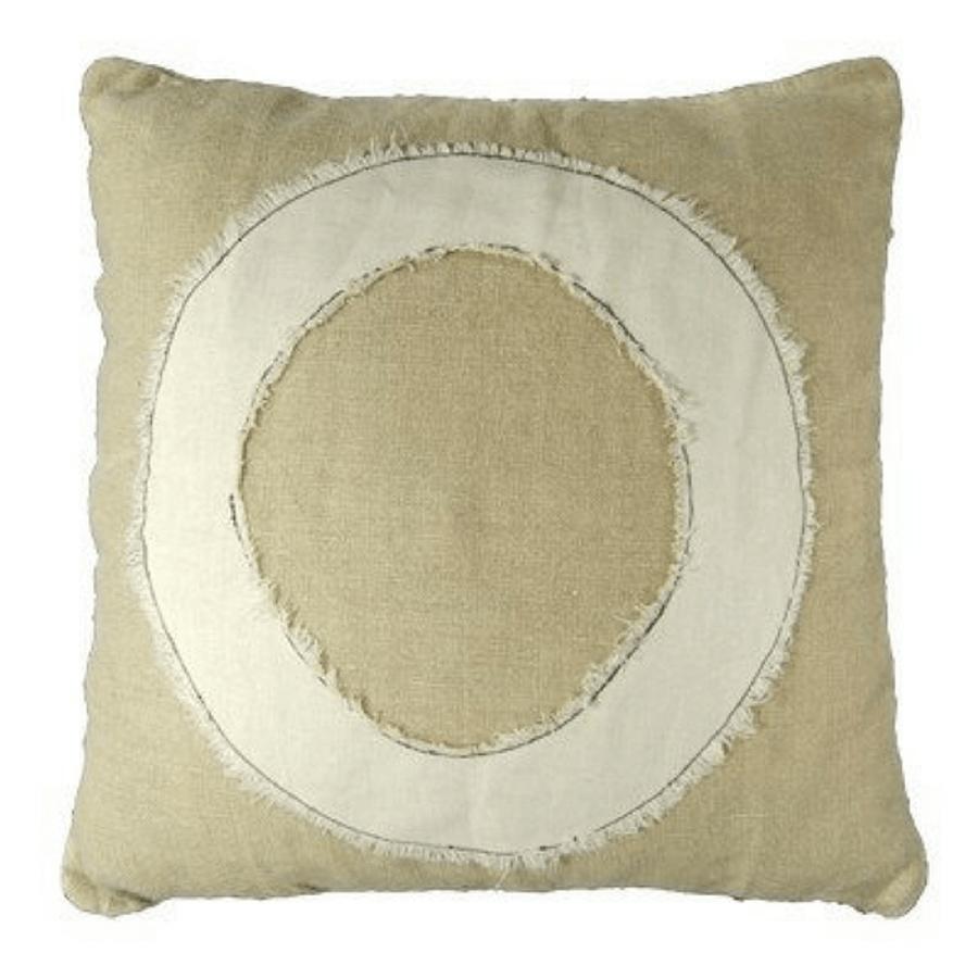 """O"" pillow"