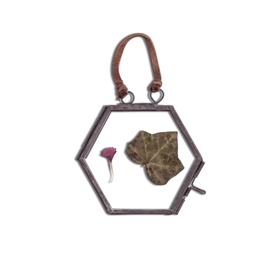Hexagon Ornament Frame with Zinc Finish