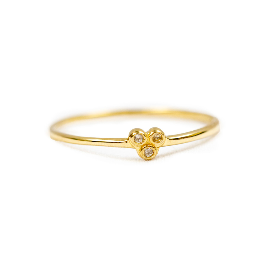 Three Stone Dainty Ring