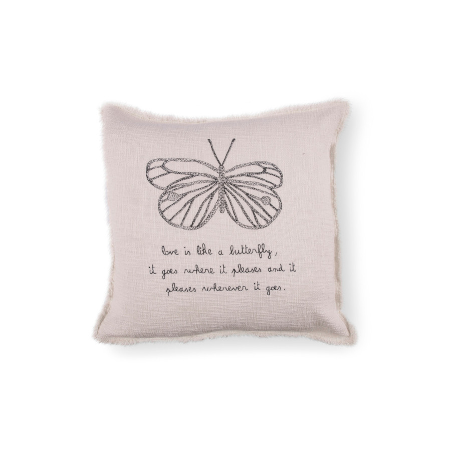 Love Is Like A Butterfly Pillow