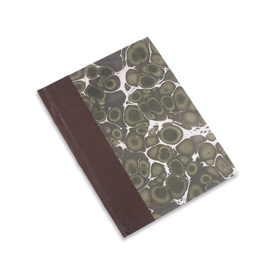 Green and Cream Marble Journal