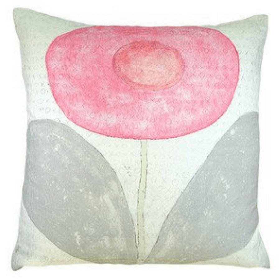 happy flower pillow