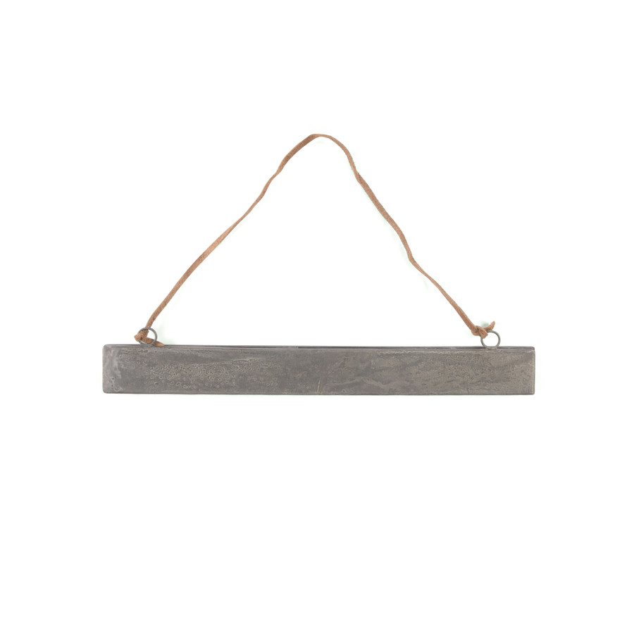 Hanging Magnetic Strip Frame with Brown Suede