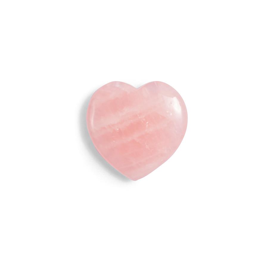 Rose Quartz Flat Heart Shaped Stone
