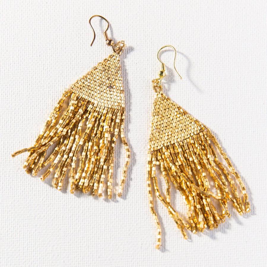 Gold Luxe Petite Fringe Earring
