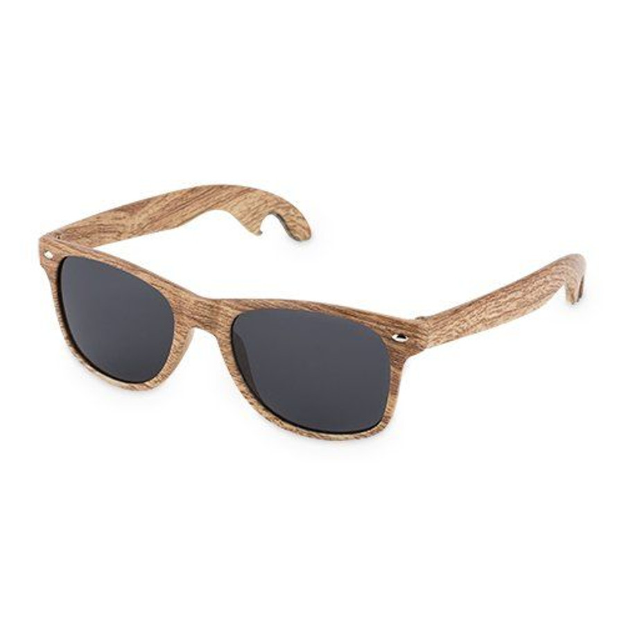 Faux Wood Bottle Opener Sunglasses