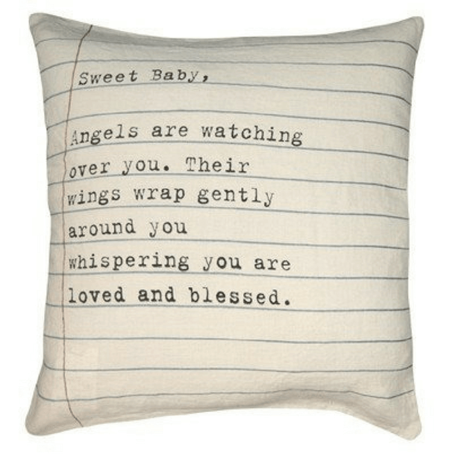 sweet baby letter pillow