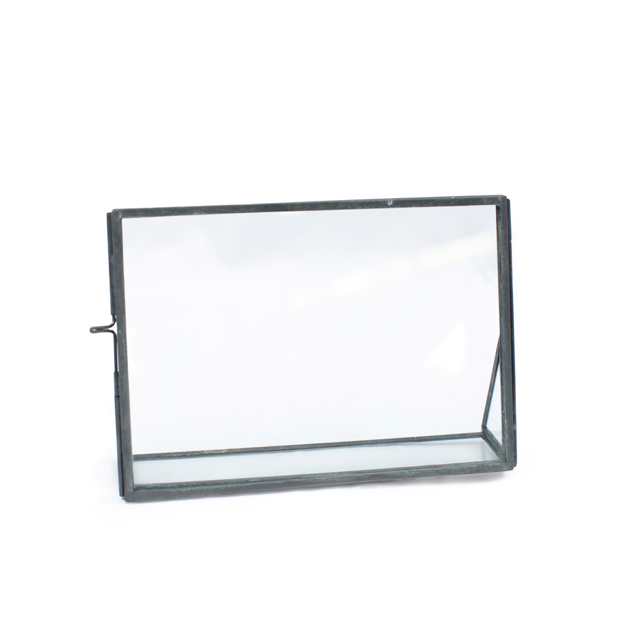 Horizontal Floating Glass Frame with Glass Stand