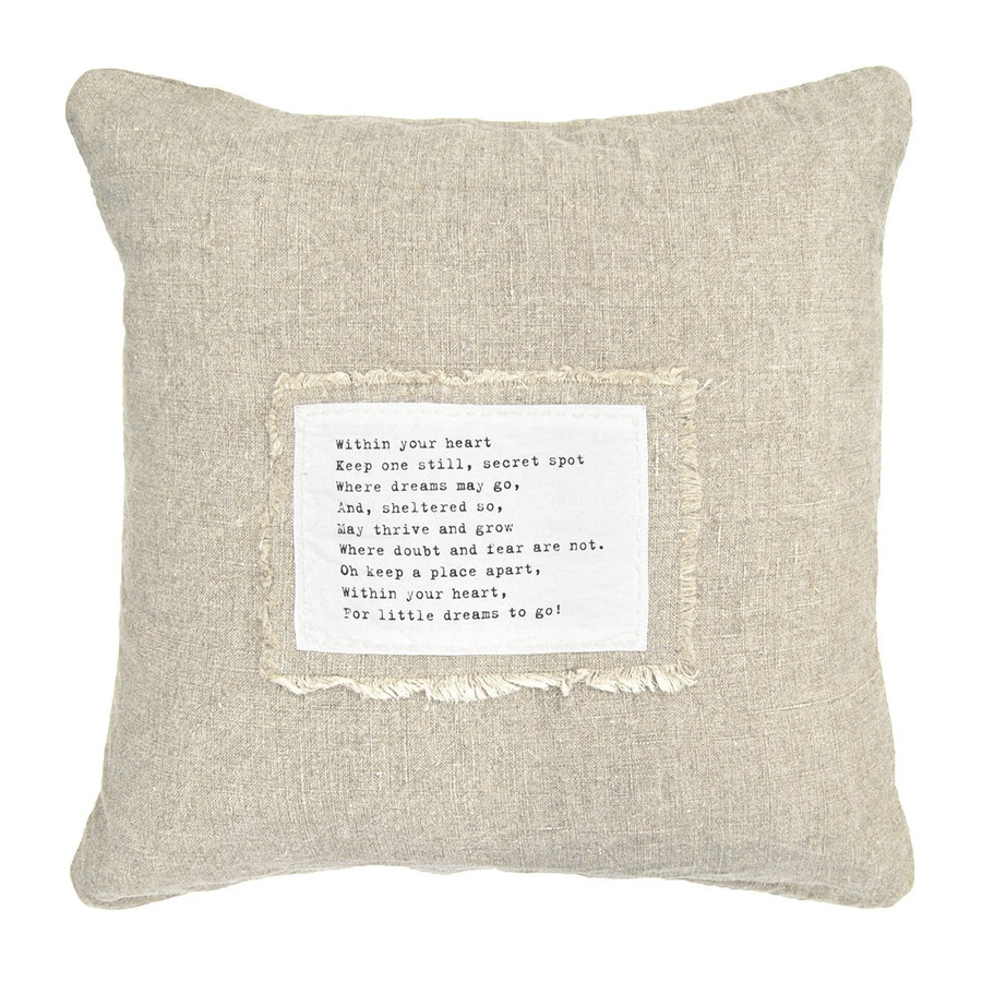 within your heart patch pillow