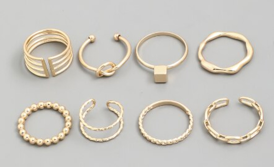 Assorted Metallic Ring - Pick from 2 colors Fame Accessories