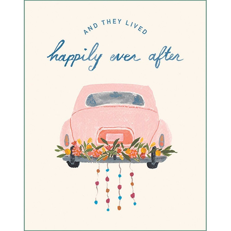 And then they lived happily ever after Wedding Card