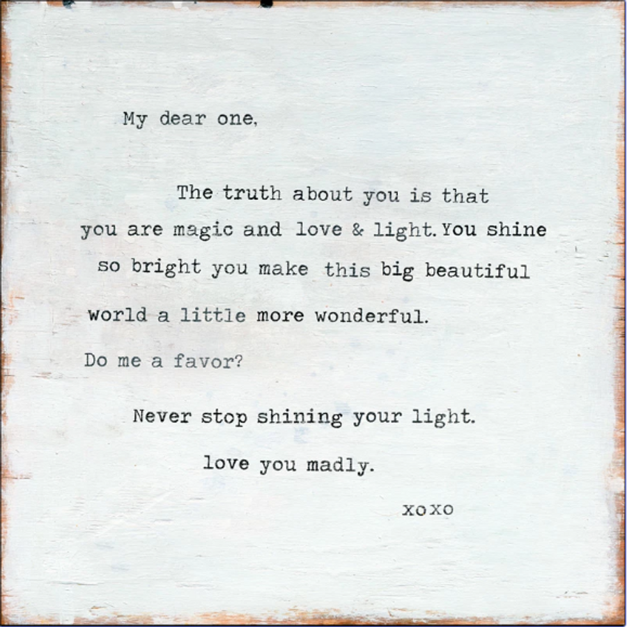 Never Stop Shining art print with gallery wrap frame