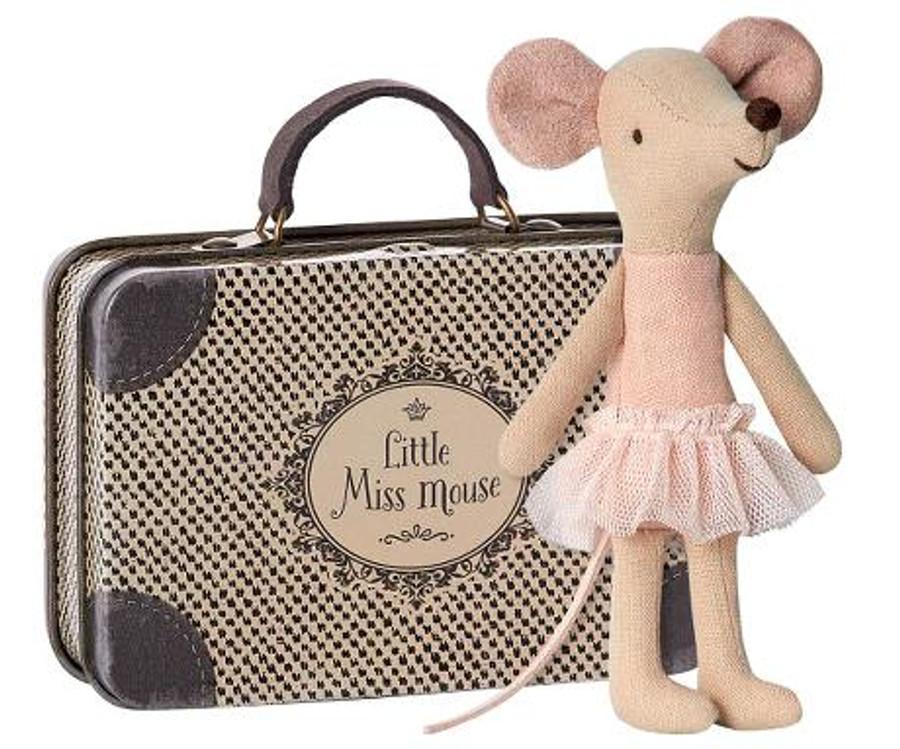 Ballerina, little sister in suitcase