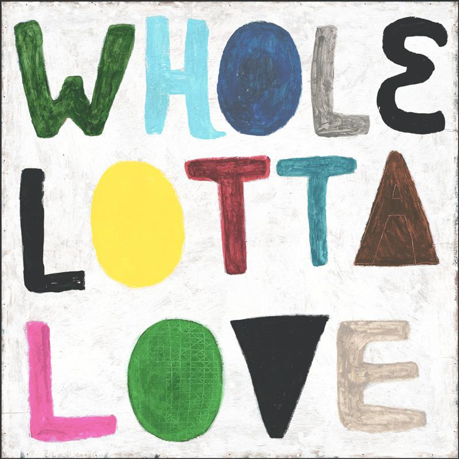 Colorful Whole Lotta Love art print with gallery wrap frame