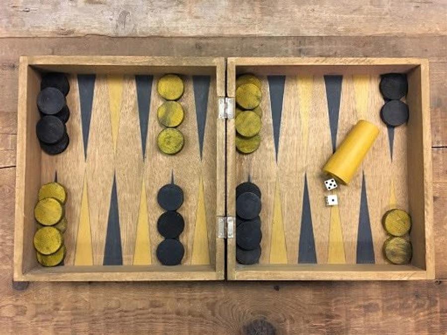 Vintage Backgammon Set Sugarboo Designs SB-AC180