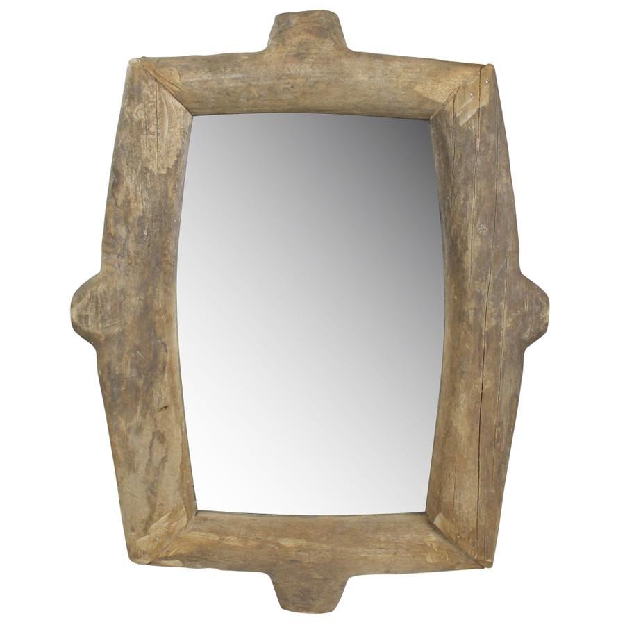 Ramsey Wheel Mirror, Wood - Rectangle