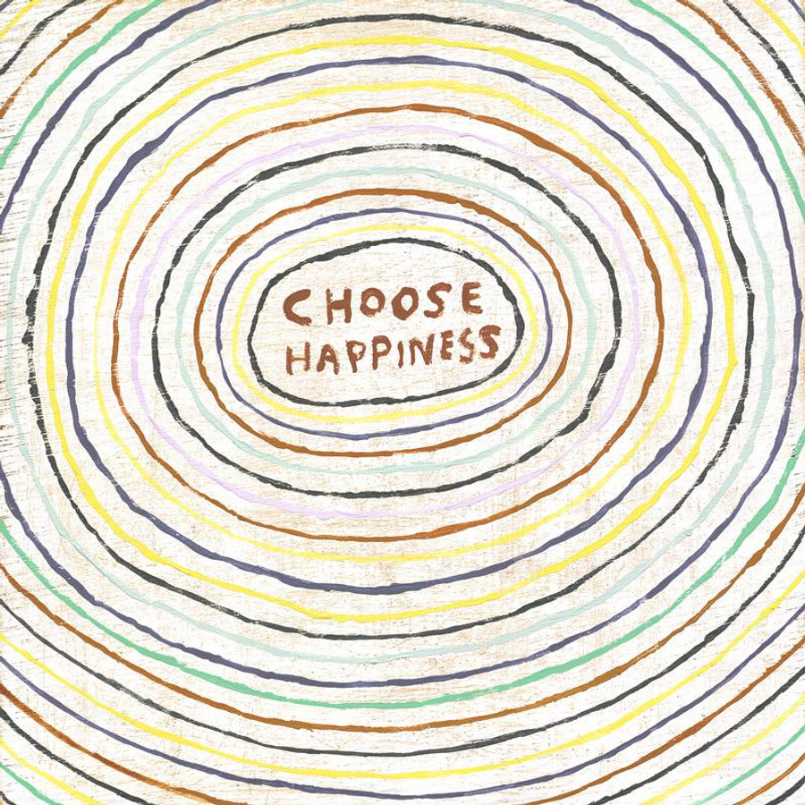 choose happiness art print with gallery wrap frame