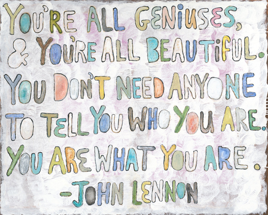 You're All Geniuses art print gallery wrap frame