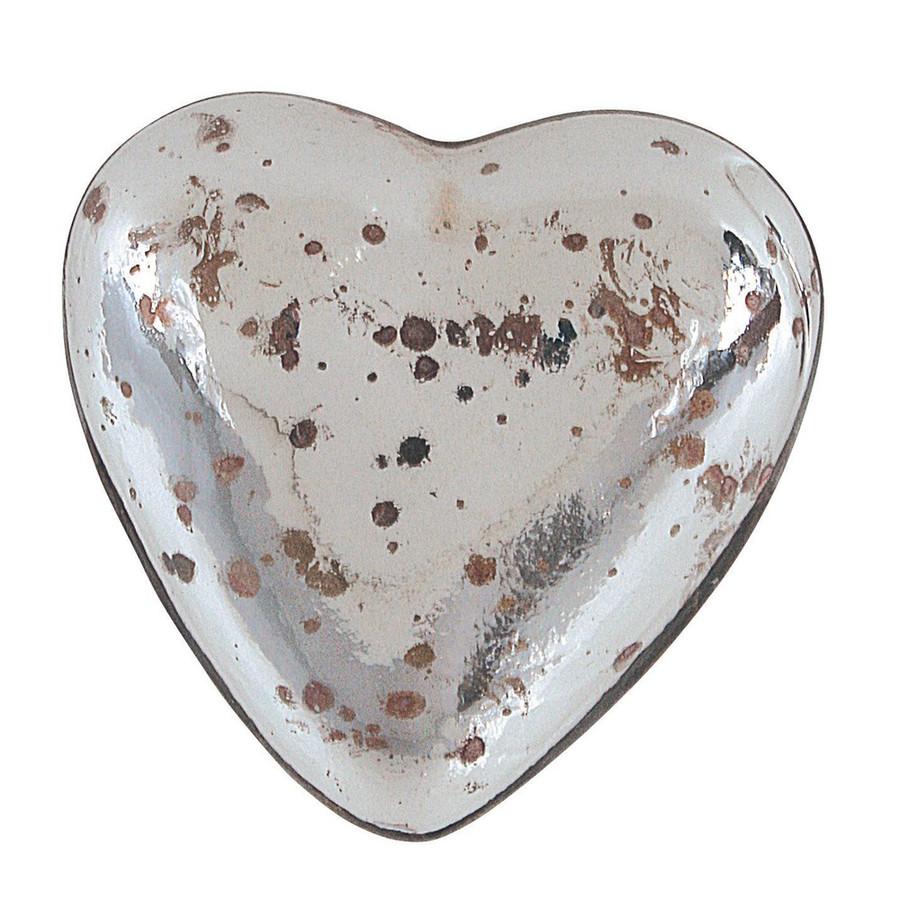 "2-1/4""L Mercury Glass Heart"