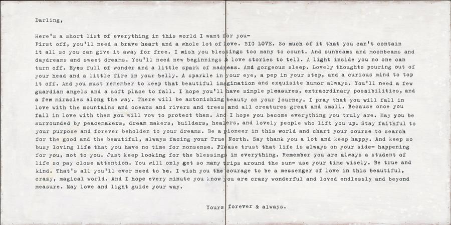 Camp Letter art print