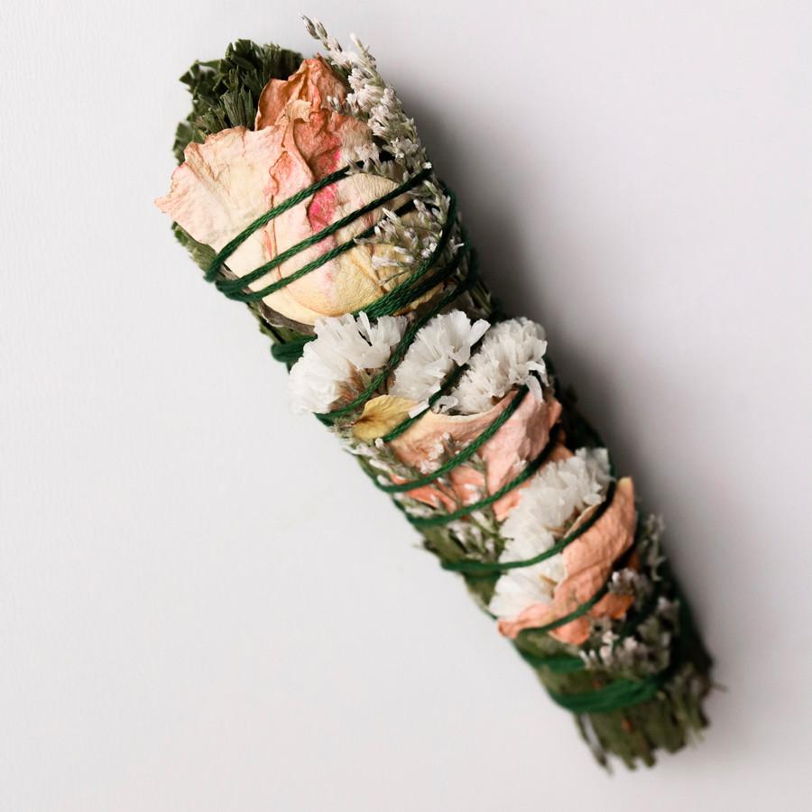 Cedar + Rose   Smudge Stick