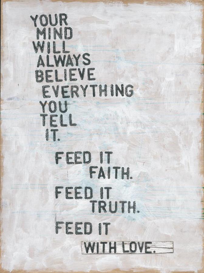 Faith, Truth and Love art print