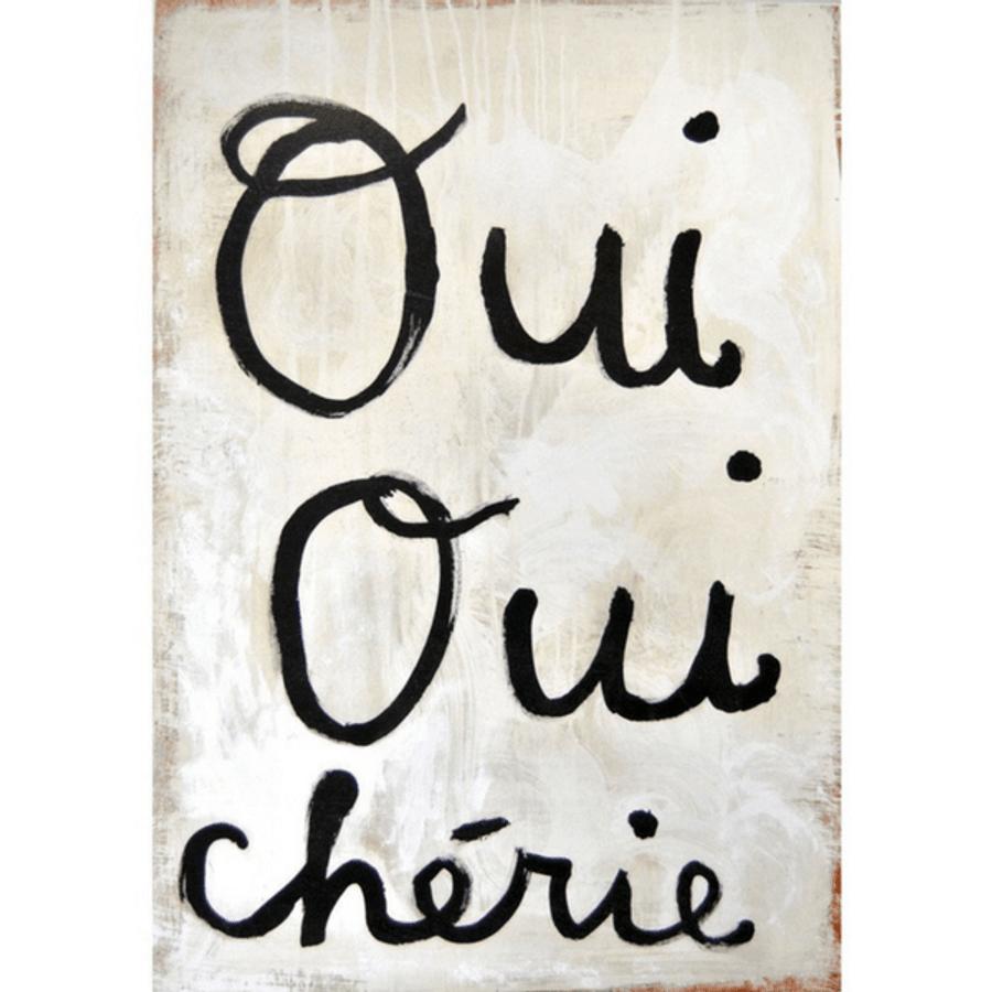 Oui Oui Cherie art print