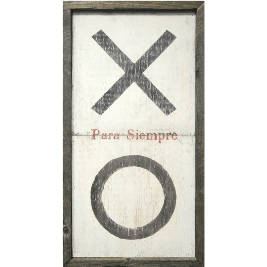 XO Para Siempre art print with greywood frame