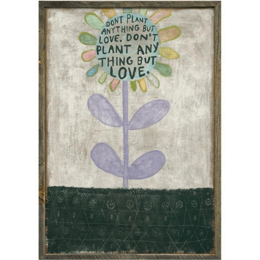 multicolored flower art print