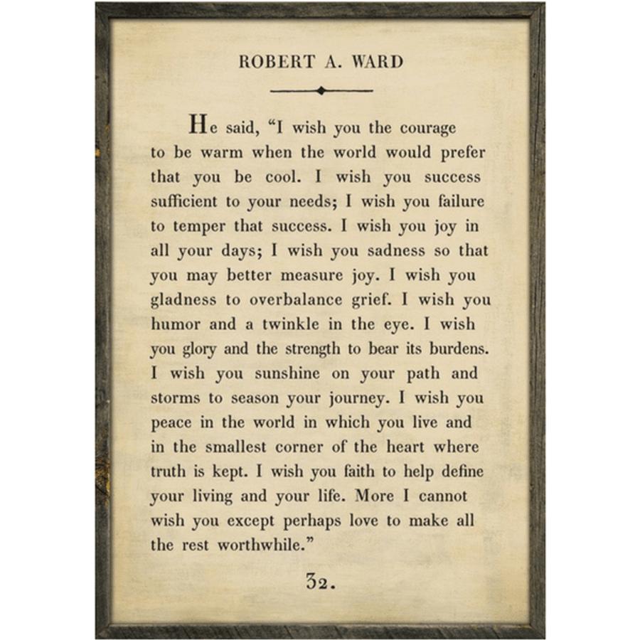 robert a ward art print - cream with grey wood frame