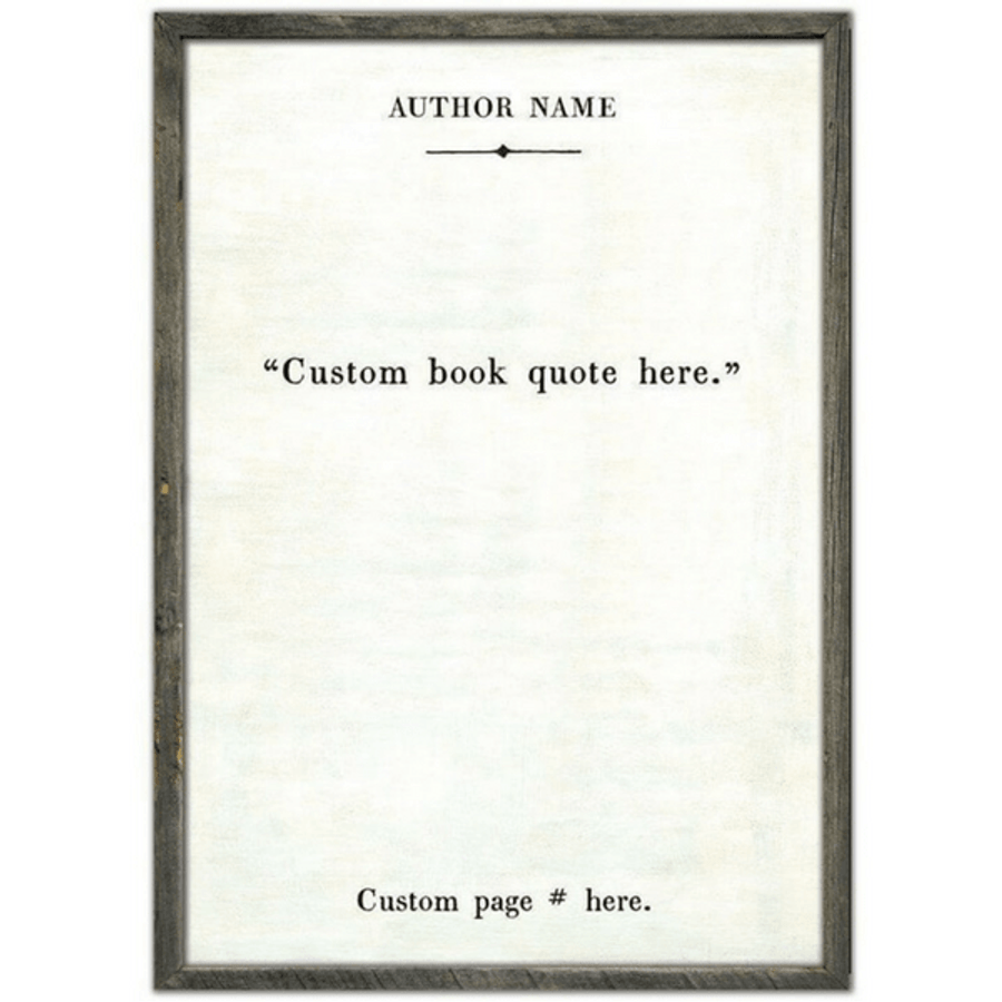custom book collection art print - white
