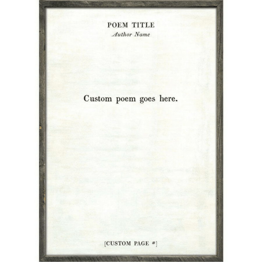 Custom Poetry Collection Quote