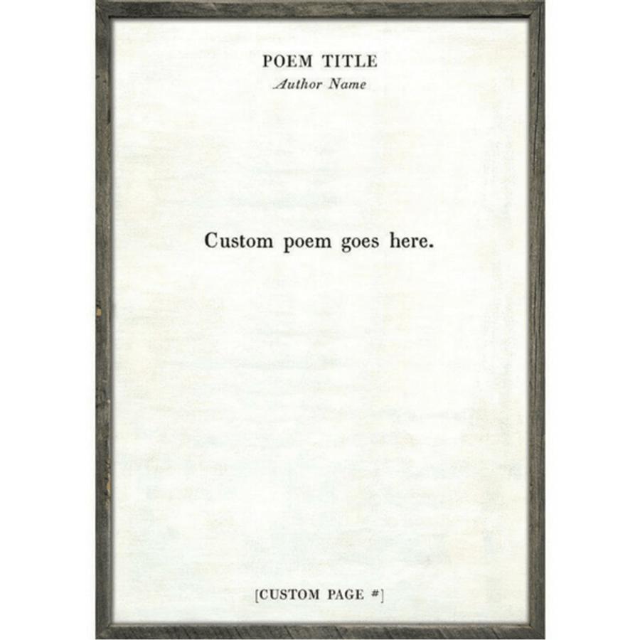 custom poetry collection art print - white